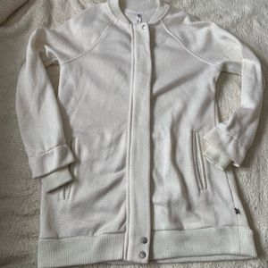 Fabletics size Small Sweater Jacket full zip White